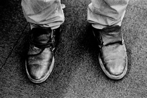 Old shoes without laces of Emir Kusturica.